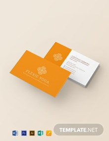 Yoga Instructor Business Card Template