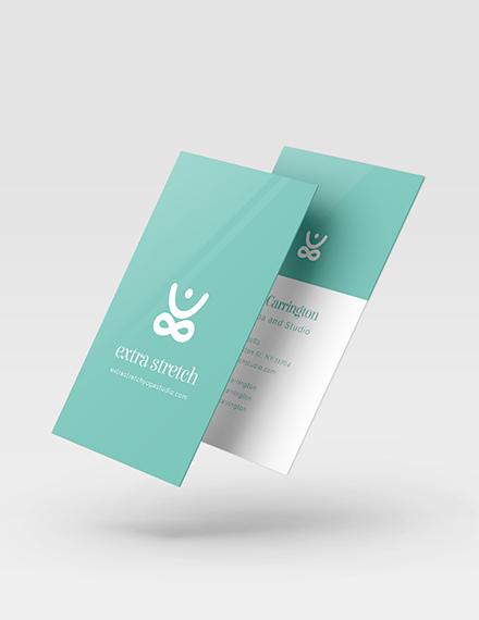 Yoga Studio Business Card Template