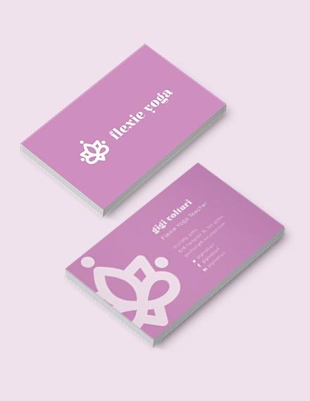 Yoga Teacher Business Card Template