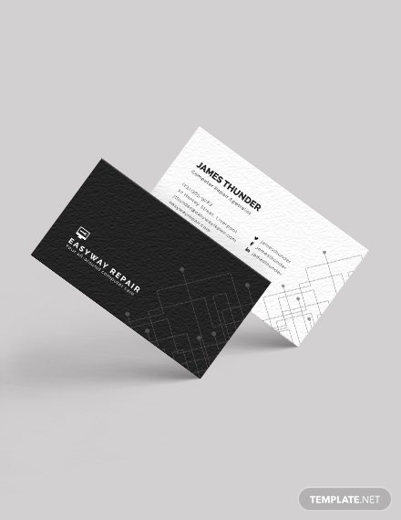 Computer Repair Business Card Download
