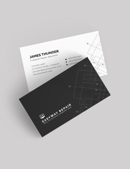 Computer Repair Business Card Template