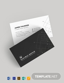 Computer Repair Business Card Template