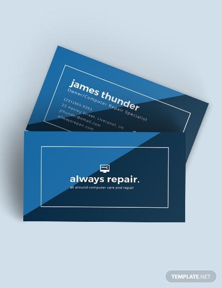 Creative Computer Repair Business Card Template