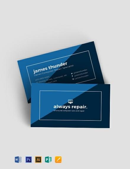 Creative Computer Repair Business Card