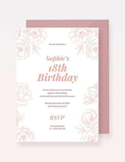 th Birthday Invitation Sample
