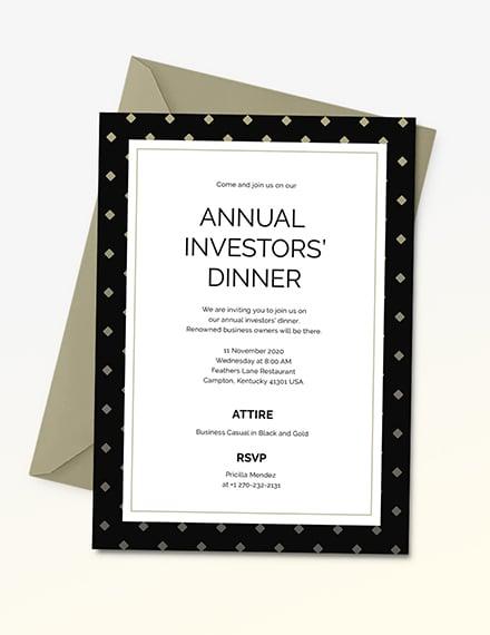 Business Dinner Invitation Download