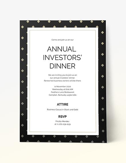 Sample Business Dinner Invitation