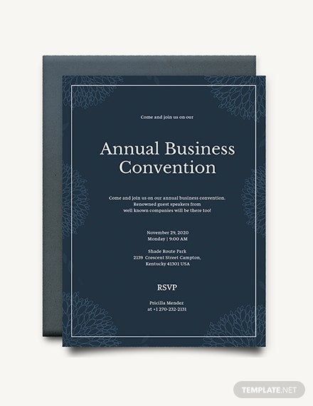 Business Event Invitation Download