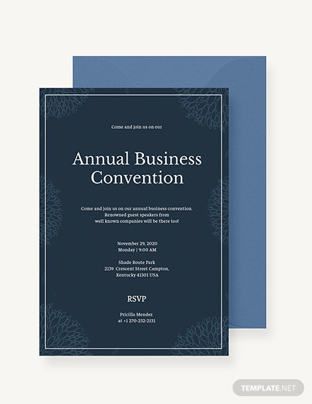 Business Event Invitation Sample