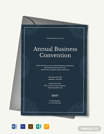 11 Free Business Invitation Templates Word Psd