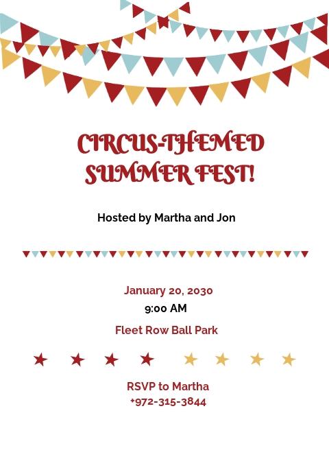 Circus Invitation Template
