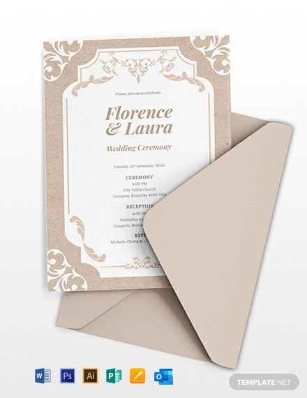 48 Free Wedding Invitation Templates Word Psd Indesign Apple Mac Pages Publisher Illustrator Outlook Template Net