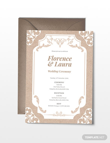 Sample Country Wedding Invitation