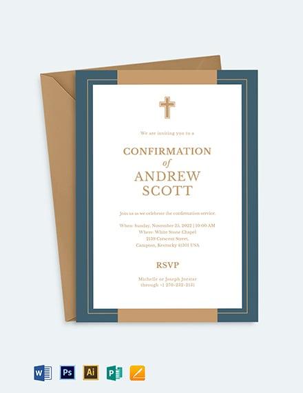 Confirmation Invitation Template