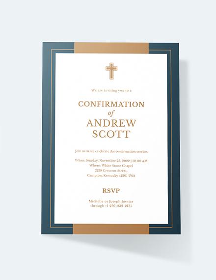 Sample Confirmation Invitation