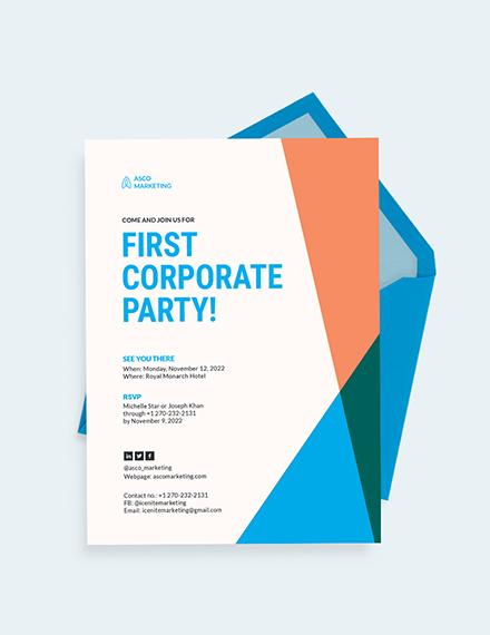 Corporate Party Invitation Download