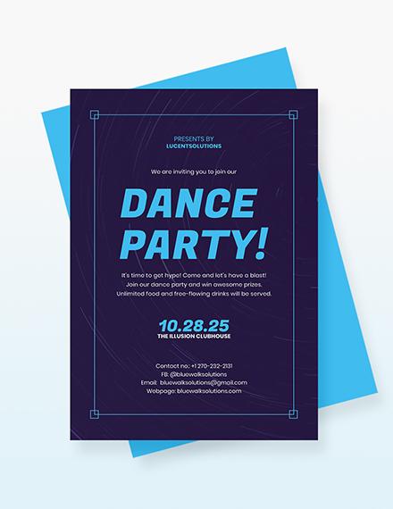 Dance Party Invitation Download