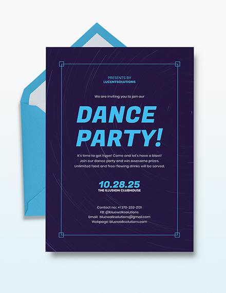Dance Party Invitation Template Download 108 Invitations In