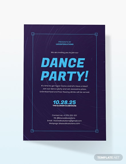 Sample Dance Party Invitation