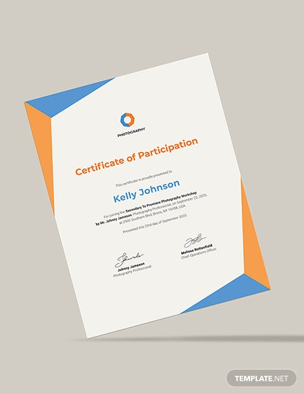 Certificate of Excellence for Student Download