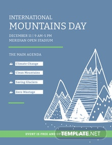 Free International Mountains Day Flyer Template
