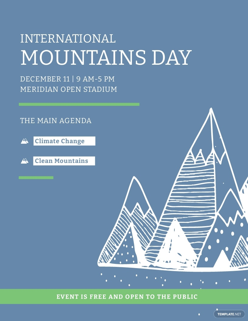 International Mountains Day Flyer Template.jpe