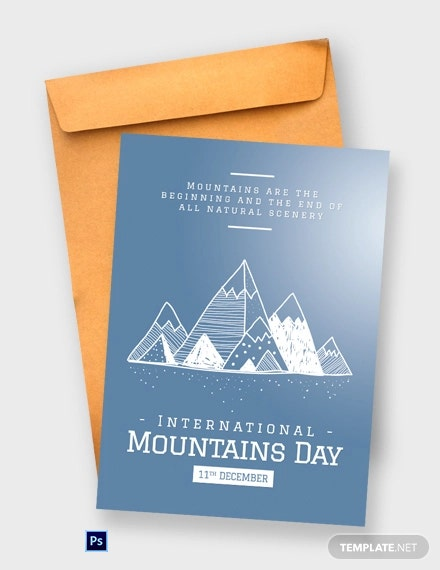 Free International Mountains Day Greeting Card