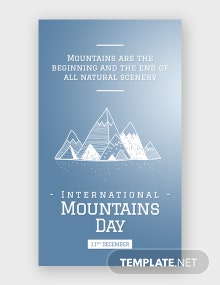 Free International Mountains Day Whatsapp Image