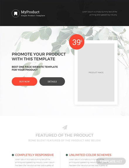 Free Single Product E-commerce HTML5/CSS3 Website Template