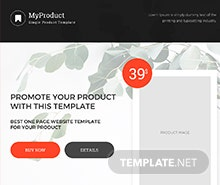 Single Product E-commerce HTML5/CSS3 Website Template
