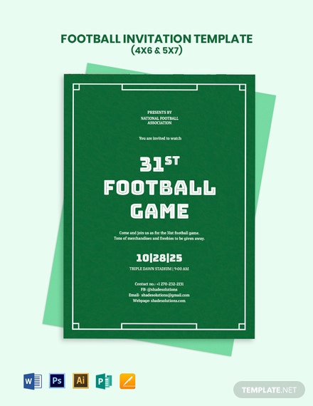 Football Invitation Template