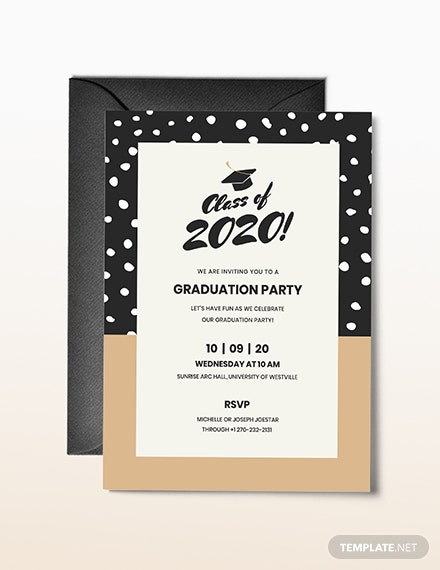 40 free graduation invitation templates ᐅ template lab - 440×570