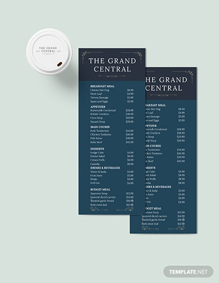 Elegant Menu Board Download