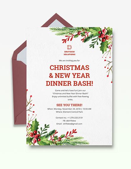 Holiday Dinner Invitation Template