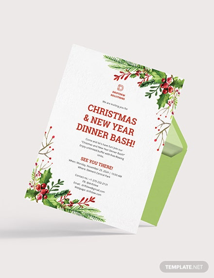 Sample Holiday Dinner Invitation