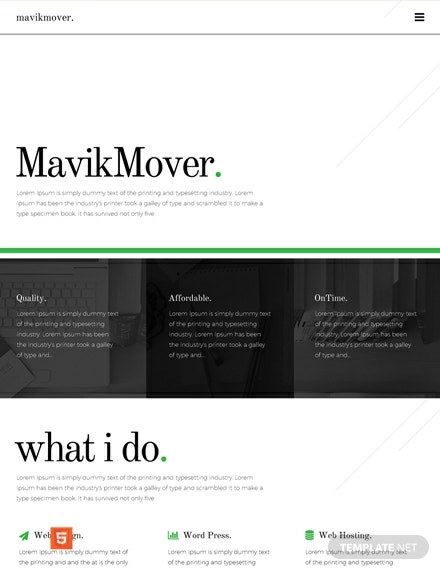 Freelancer HTML5/CSS3 Website Template