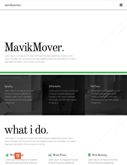 Freelancer HTML5/CSS3 Website Template