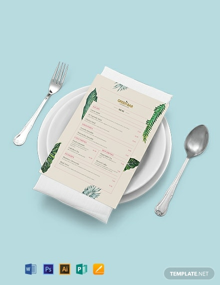 Rustic Bar menu Template