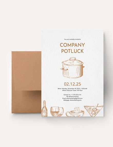 Potluck Invitation Download