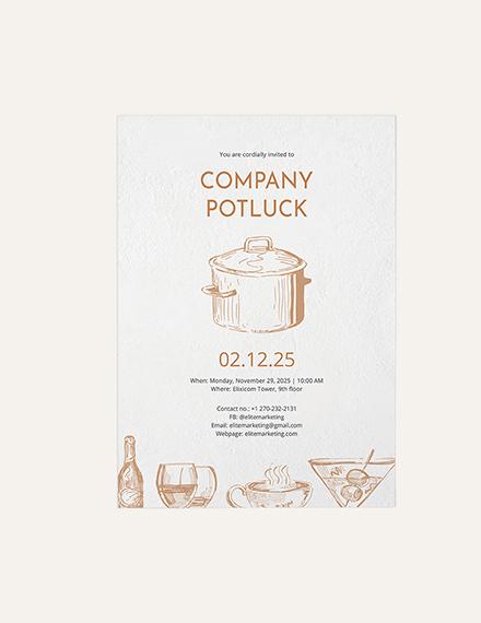 Sample Potluck Invitation