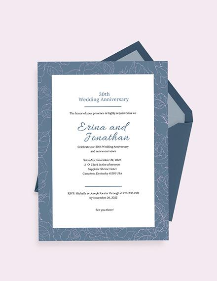 Wedding Anniversary Invitation Card Download