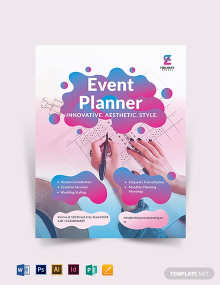 event planner flyer template 1