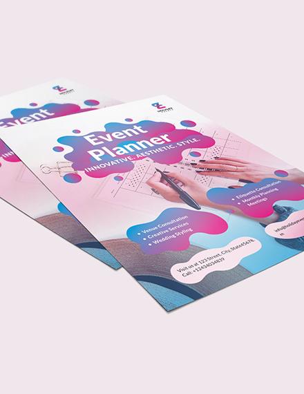 Sample Event Planner Flyer