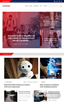 Free News HTML5/CSS3 Website Template
