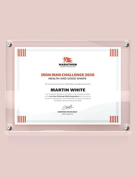 Modern Prize Certificate Download