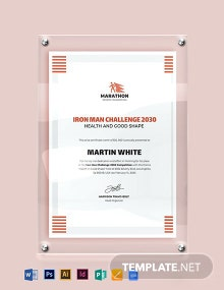 Modern Prize Certificate Template