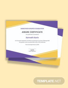 Simple Prize Certificate Template