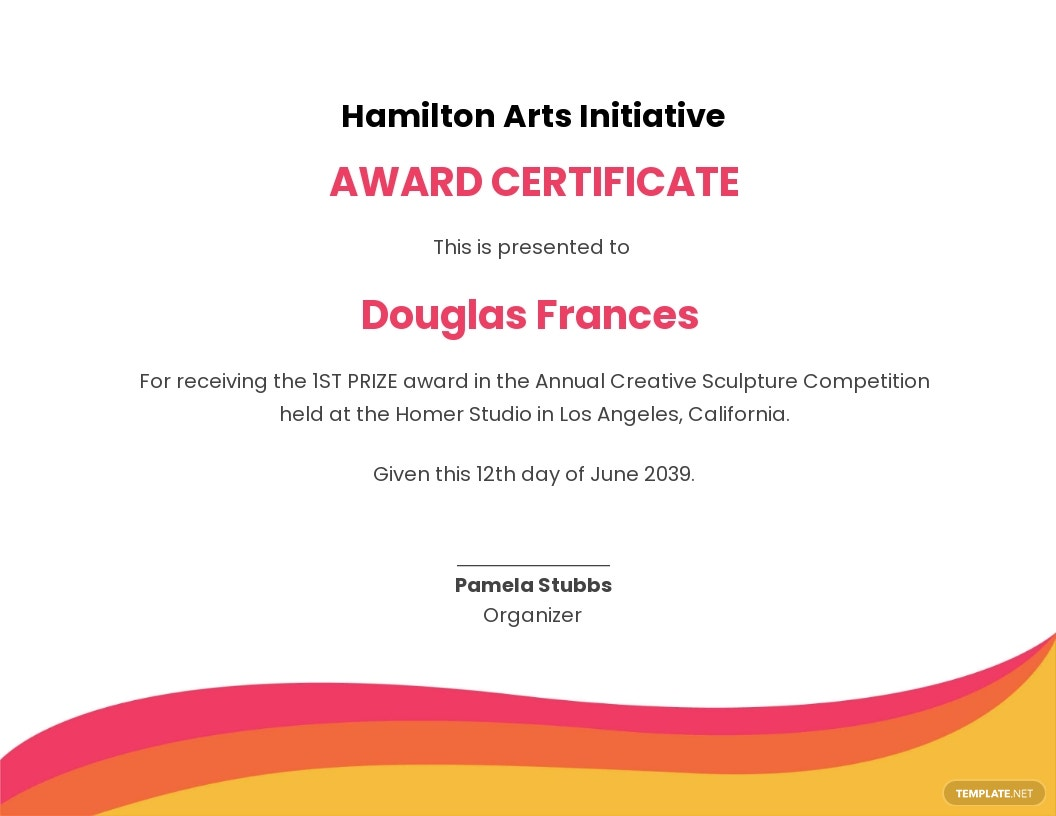 Creative Prize Certificate Template.jpe