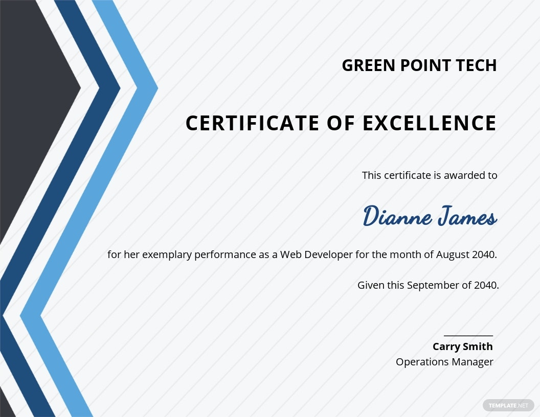 Employee Excellence Certificate Template.jpe