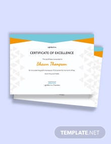 Simple Employee Excellence Certificate Template